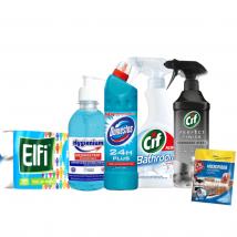 Kit pentru baie - 6 produse igienizare si dezinfectare