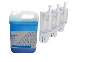 Kit dezinfectare - Igienizant si dispensere